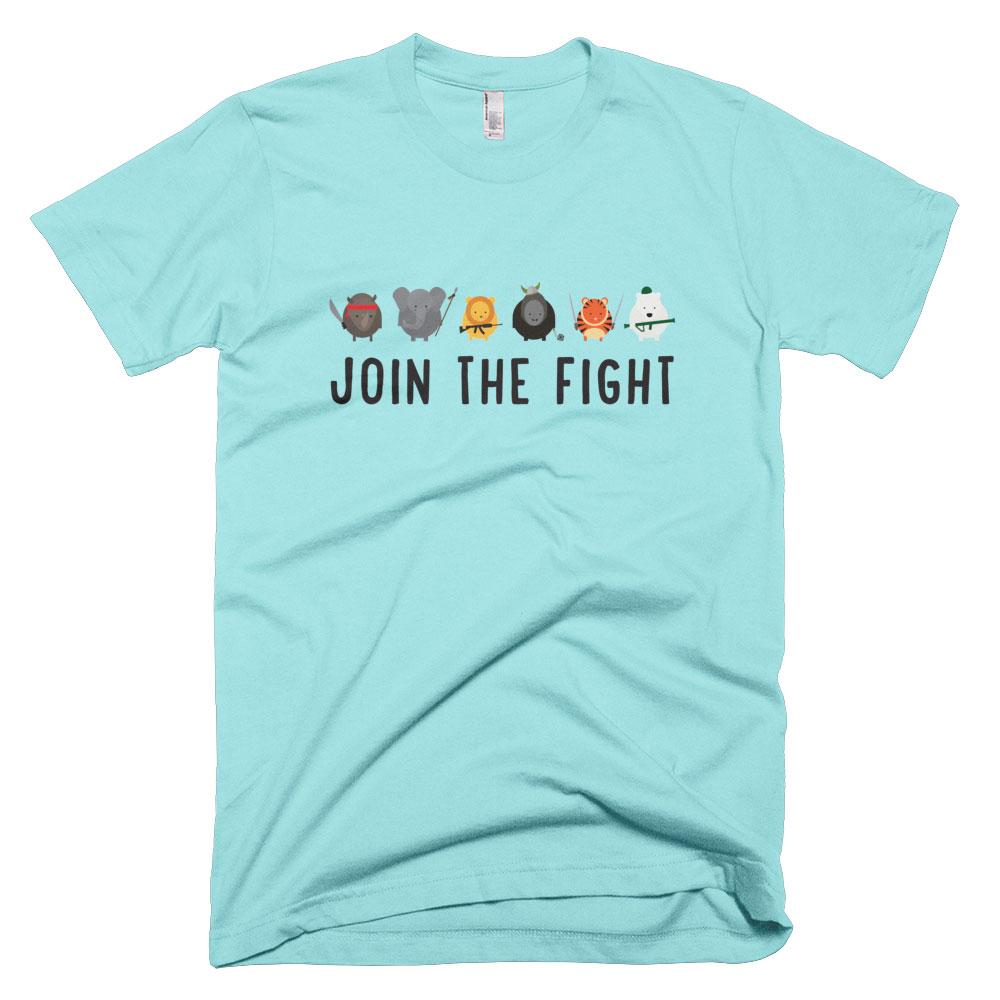 Join the Fight Mens - Light Aqua