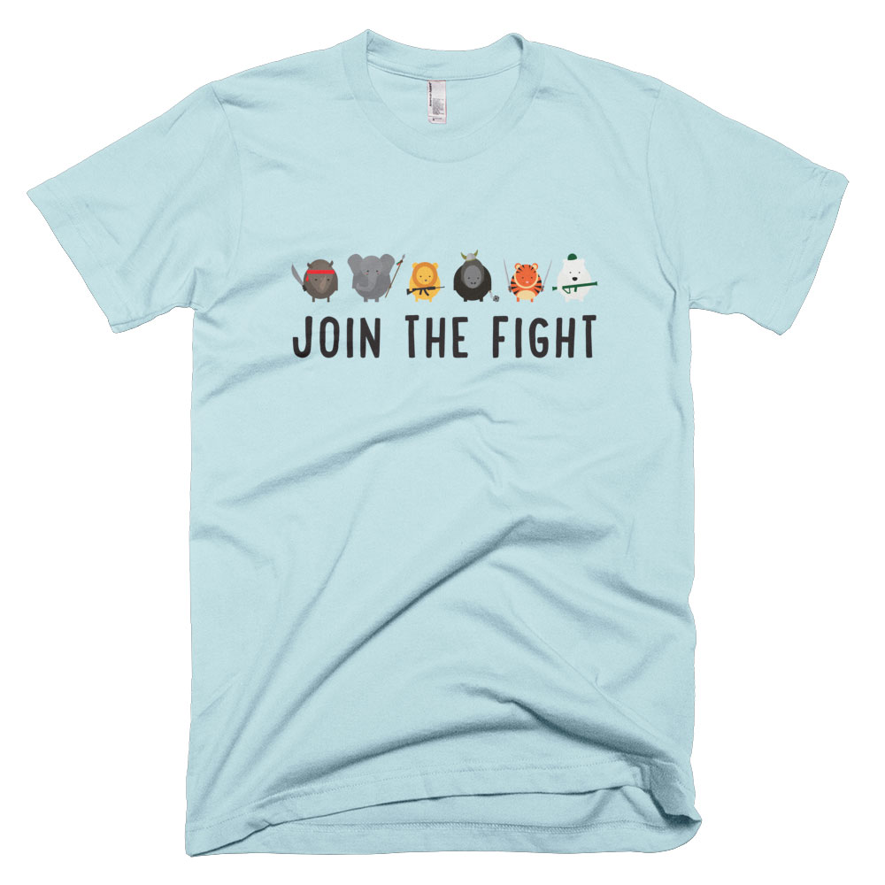 Join the Fight Mens - Light Blue