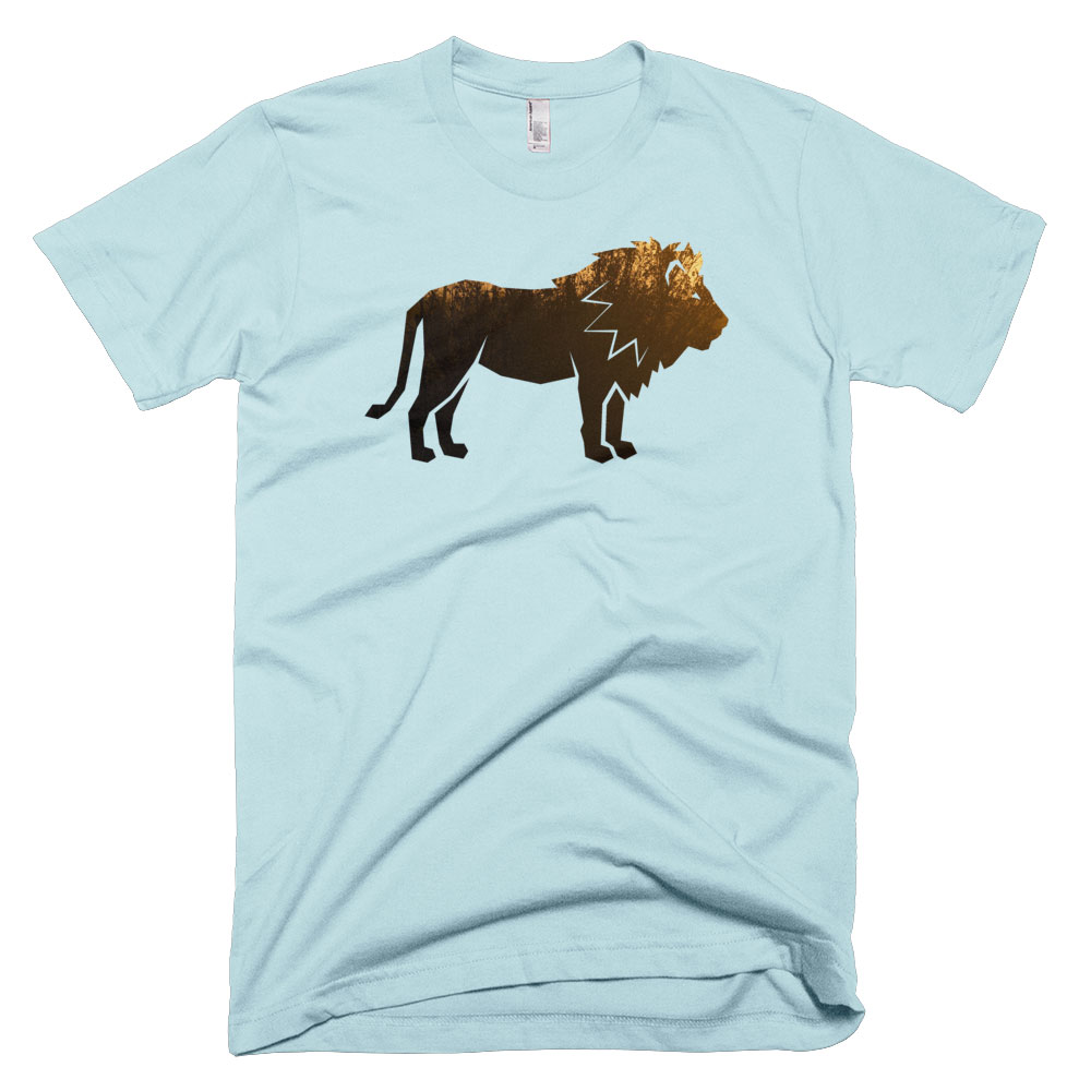 Lion Habitat Mens - Light Blue