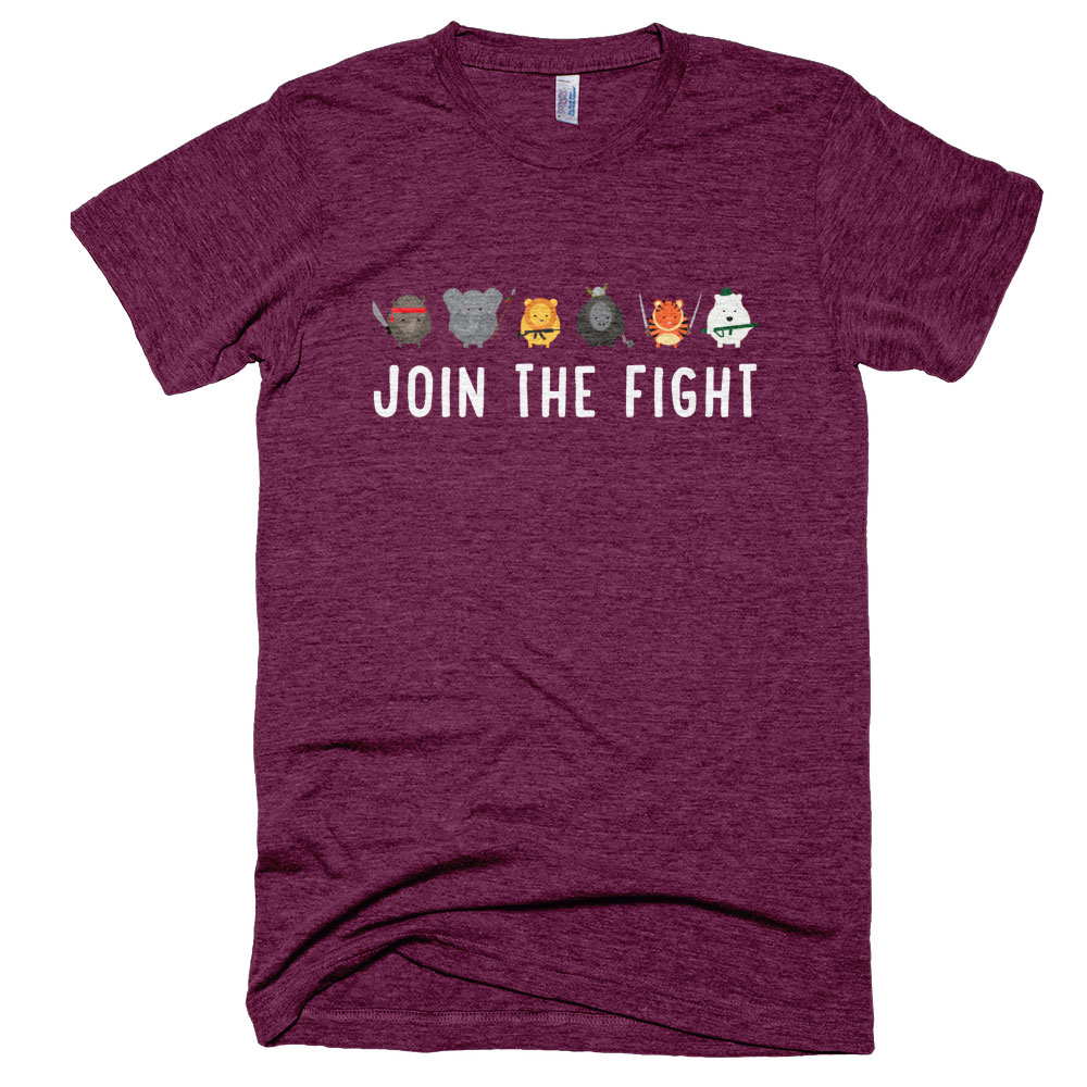 Join the Fight Mens - Tri-Cranberry