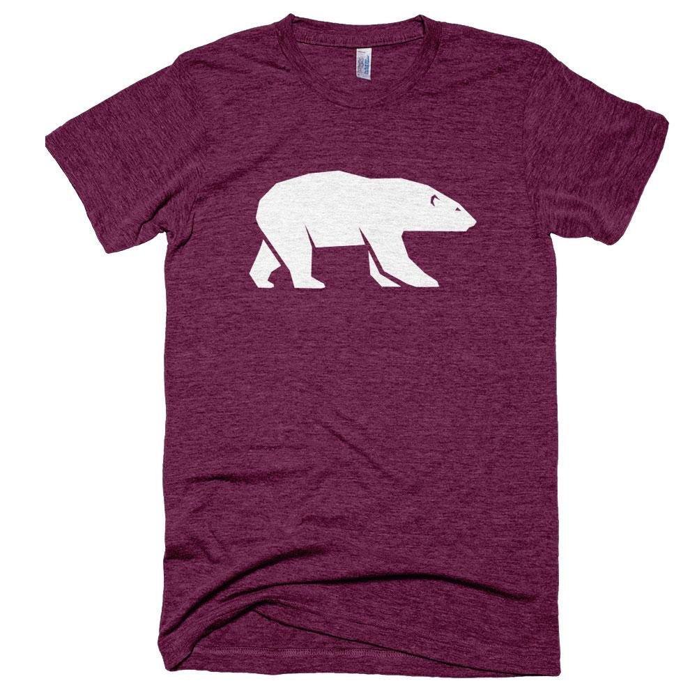 Polar Bear Mens - Tri-Cranberry