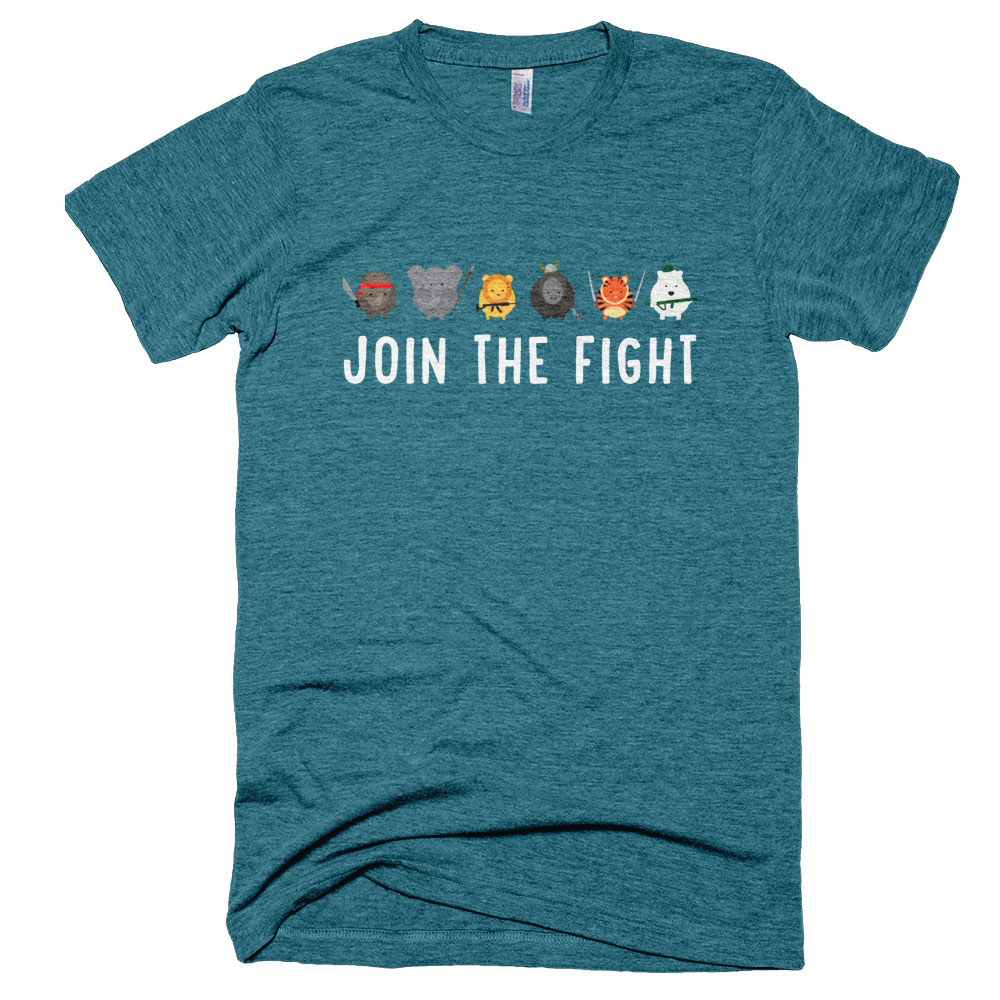 Join the Fight Mens - Tri-Evergreen