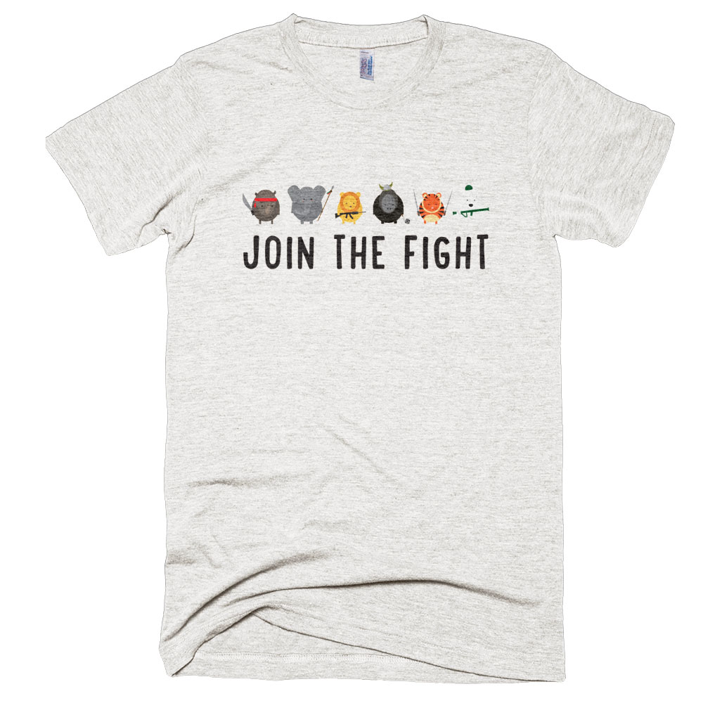 Join the Fight Mens - Tri-Oatmeal