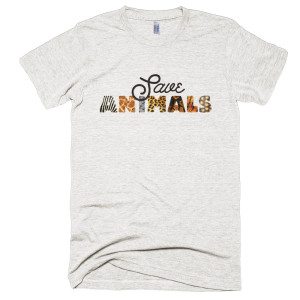 Save Animals Mens - Tri-Oatmeal