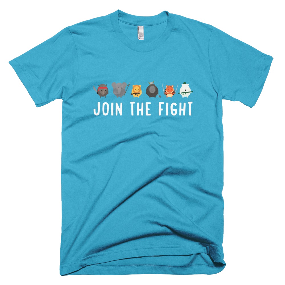 Join the Fight Mens - Turquoise