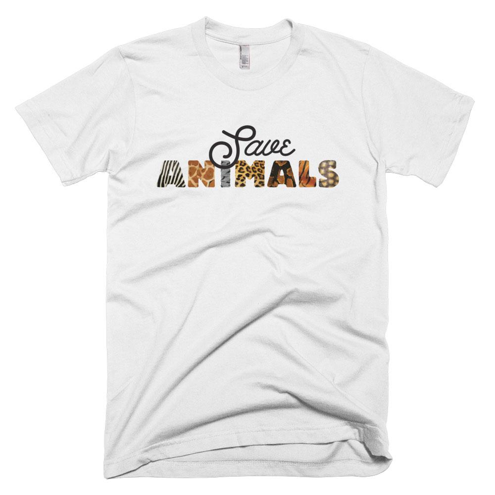 Save Animals Mens - White