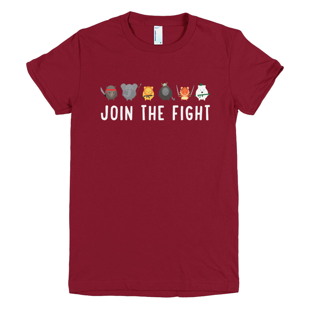 Join the Fight Women - Cranberry