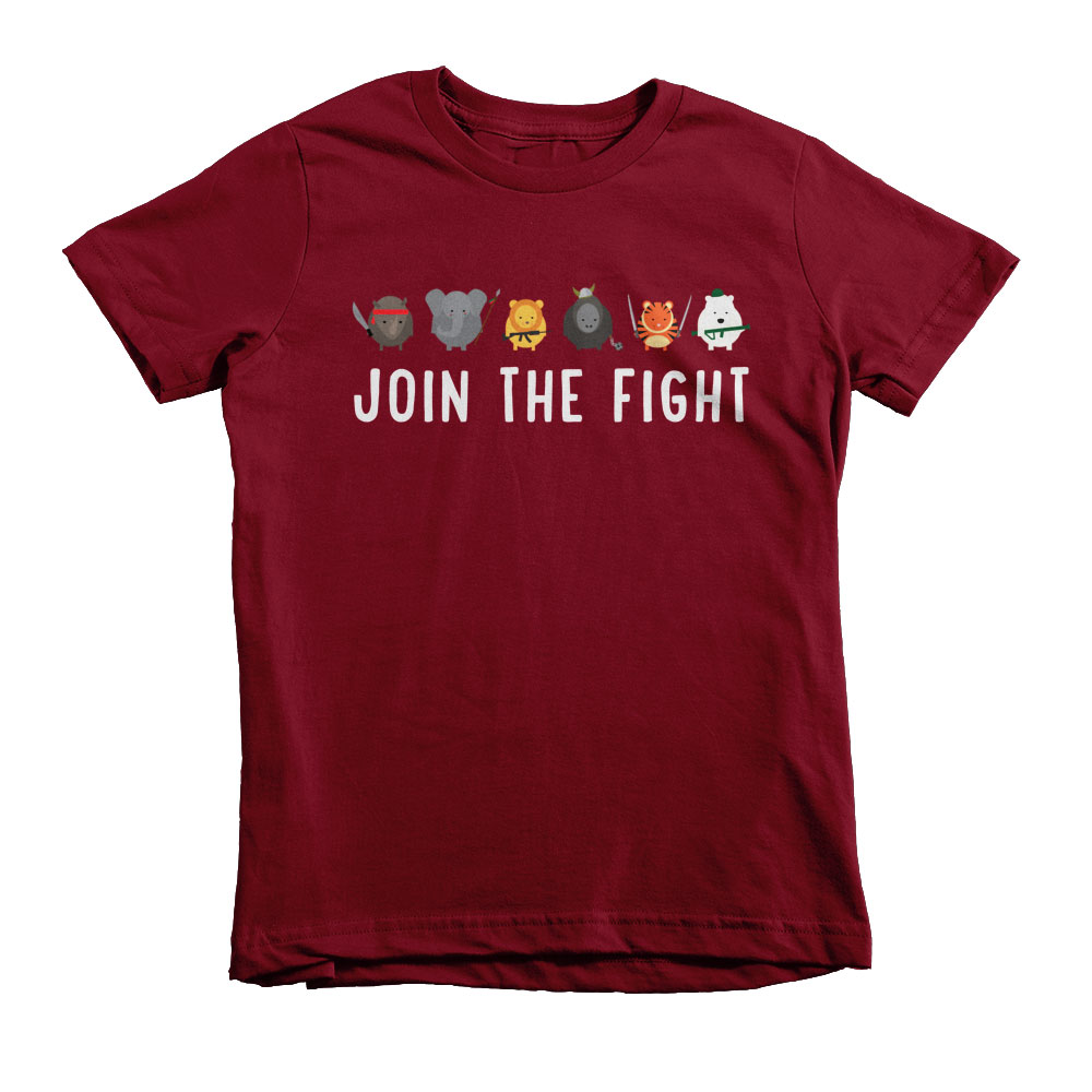 Join the Fight Kids - Cranberry