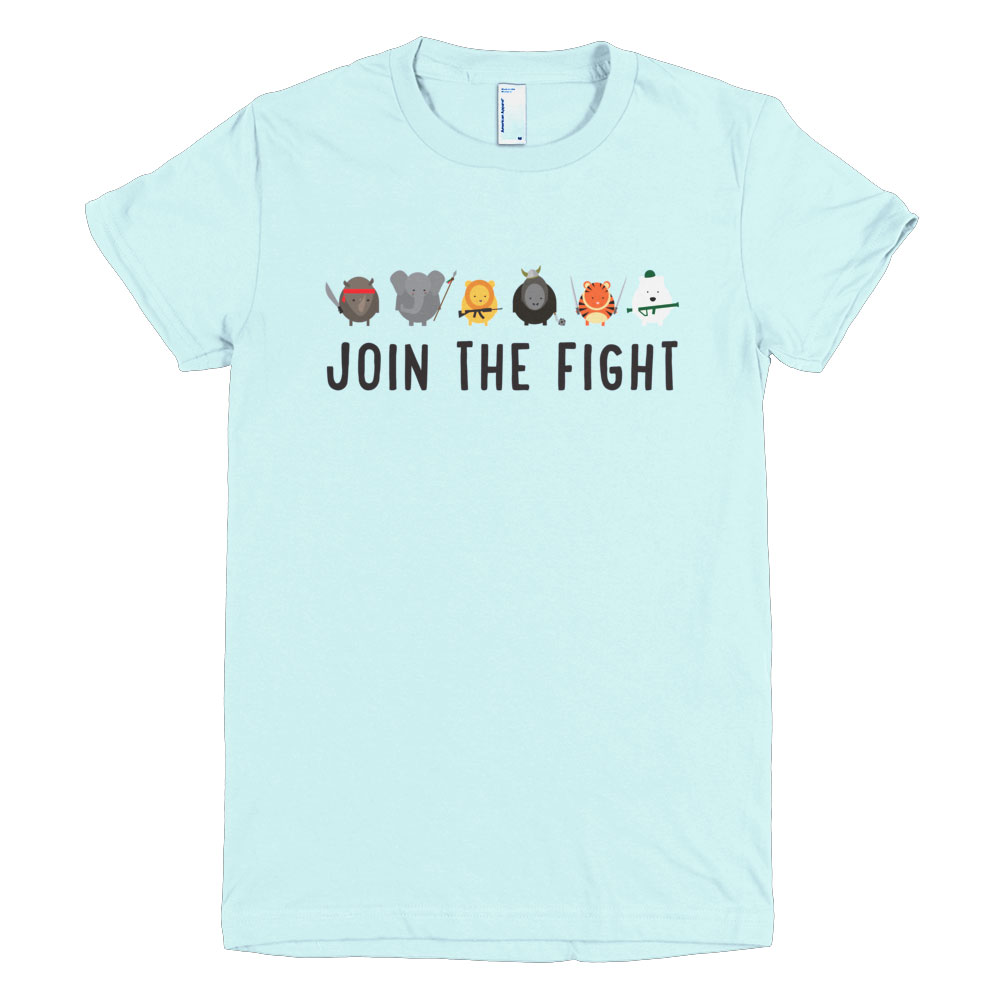 Join the Fight Women - Light Blue