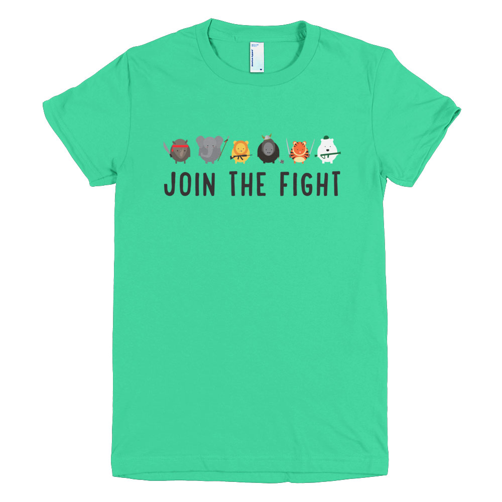 Join the Fight Women - Mint