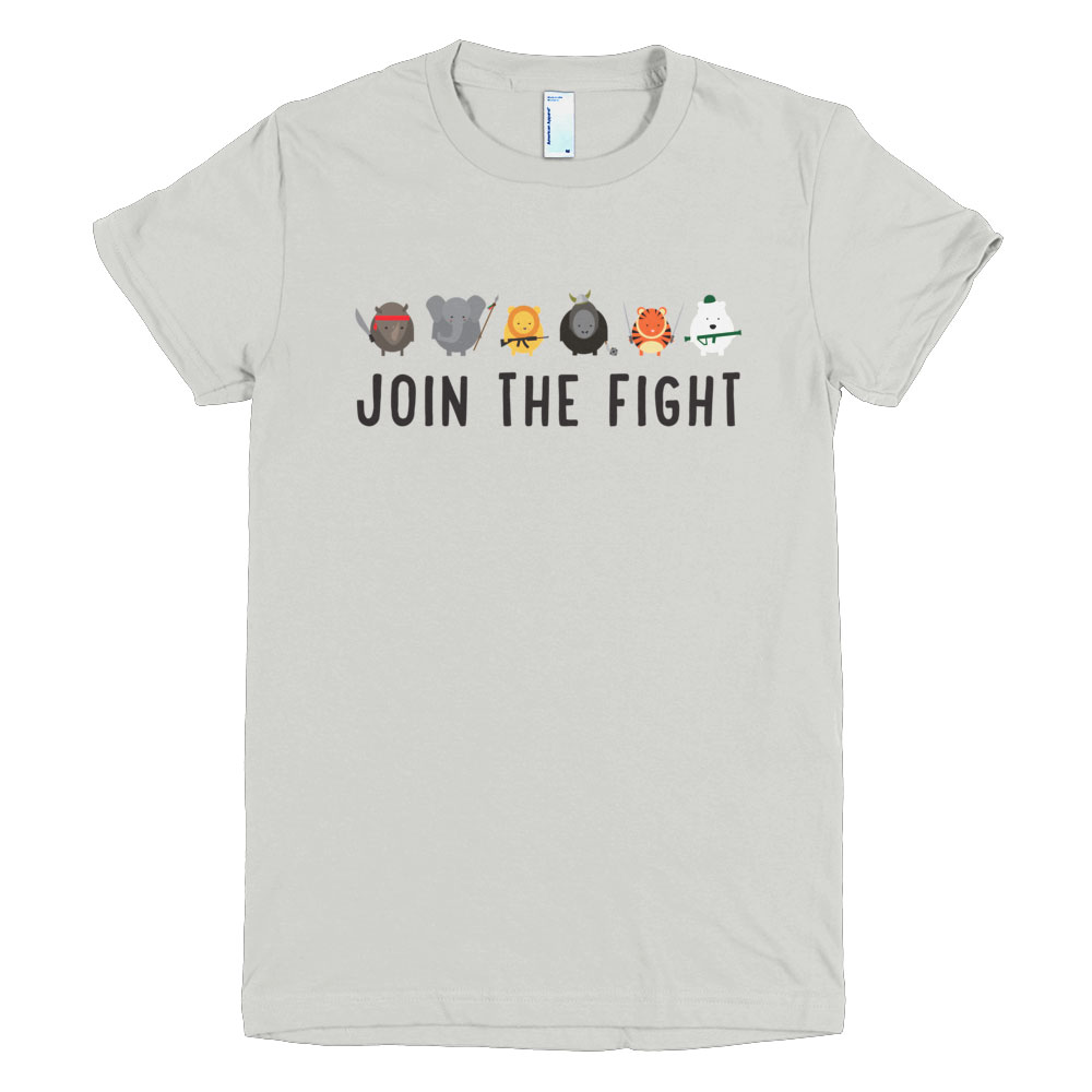 Join the Fight Women - New Silver