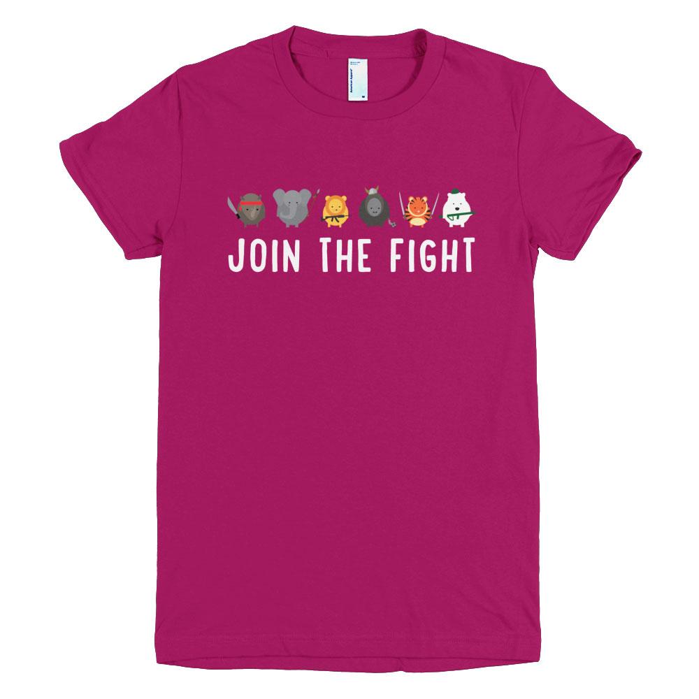 Join the Fight Women - Raspberry