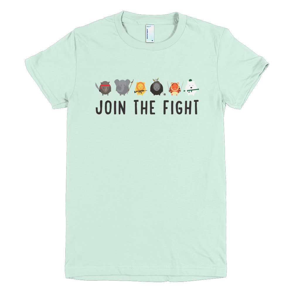 Join the Fight Women - Sea Foam