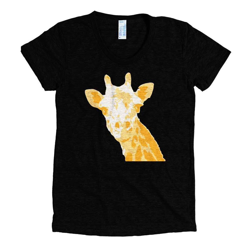 5dd2529e Giraffe Tri-Blend T-Shirt Women - Cause You Care