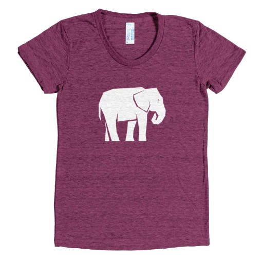 Elephant Habitat Women - Tri-Cranberry