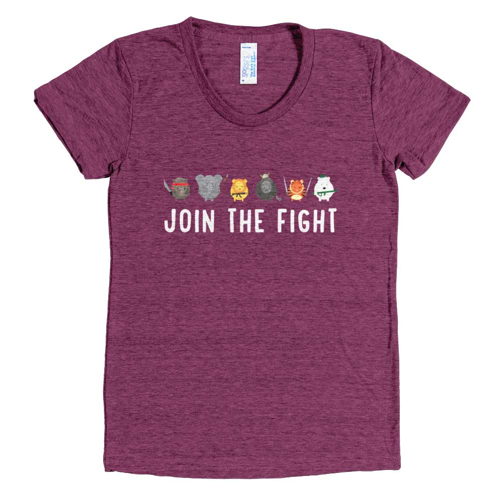 Join the Fight Women - Tri-Cranberry