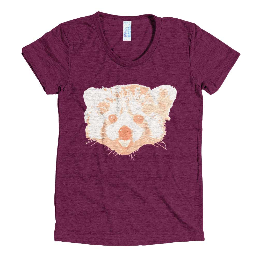 Red Panda Women - Tri-Cranberry