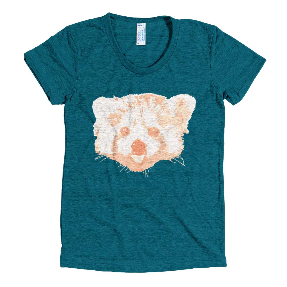 Red Panda Women - Tri-Evergreen