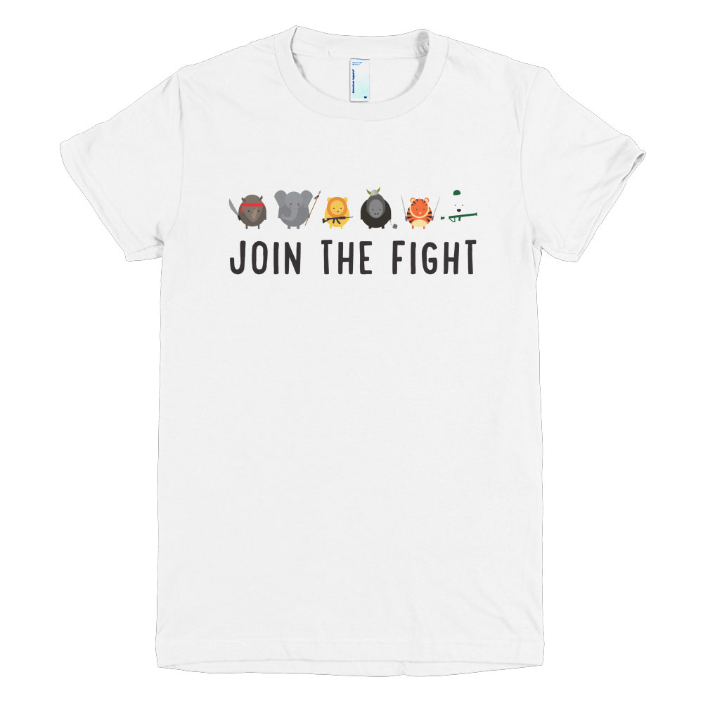 Join the Fight Women - White