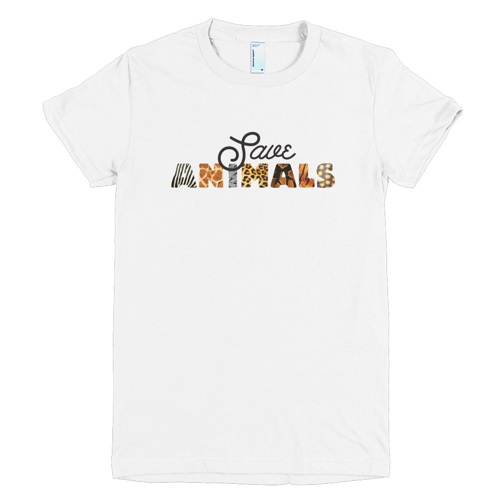 Save Animals Women - White