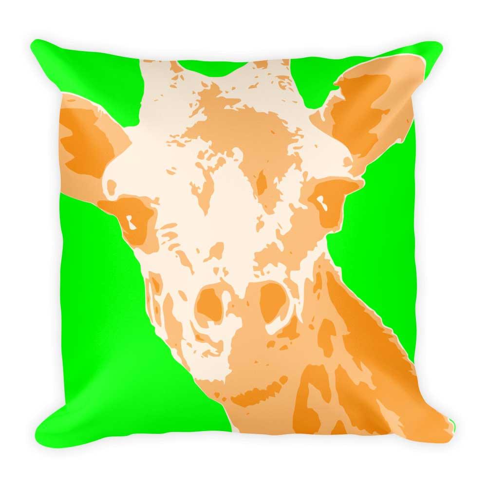 Giraffe Pillow - Green
