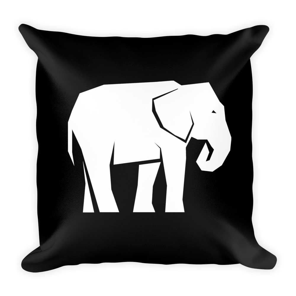 Elephant Pillow - Black