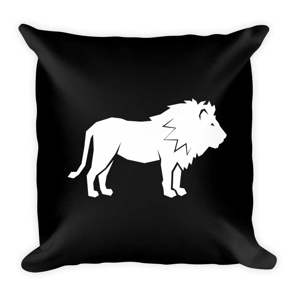 Lion Pillow - Black
