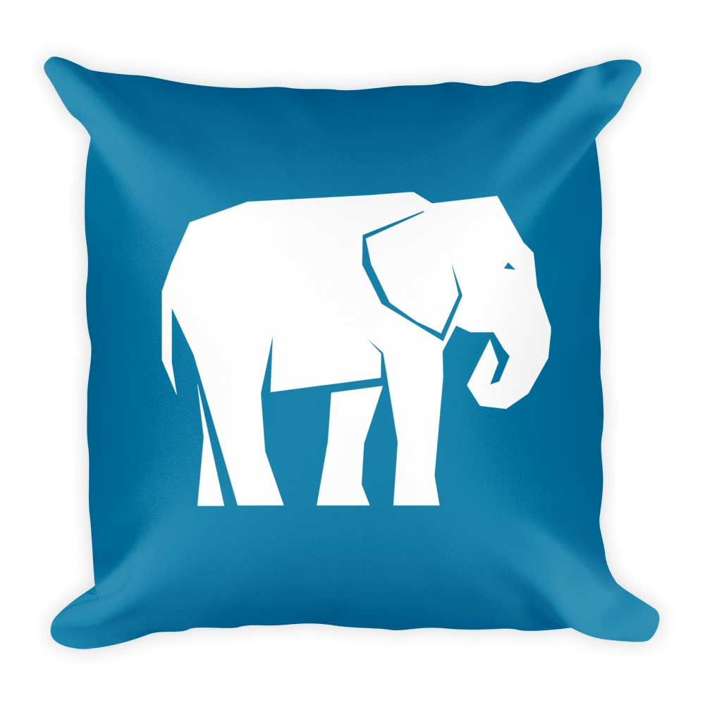 Elephant Pillow - Blue