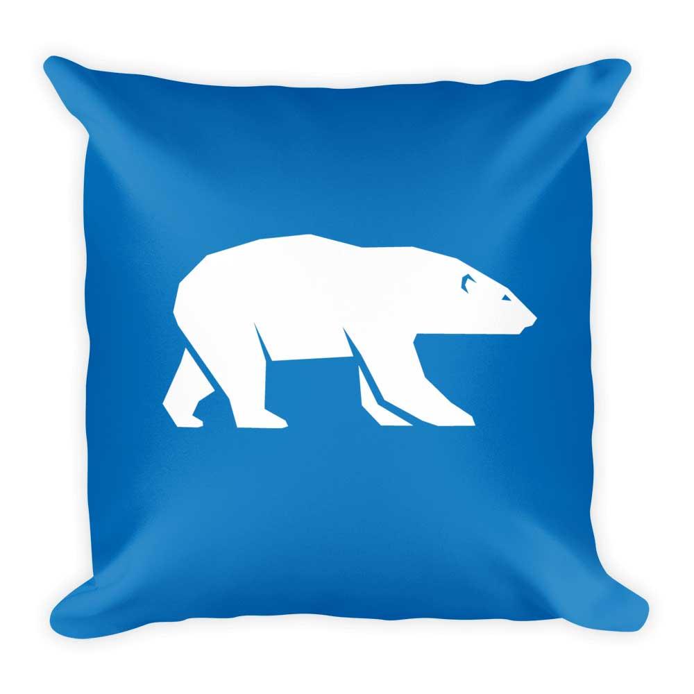 Polar Bear Pillow - Blue