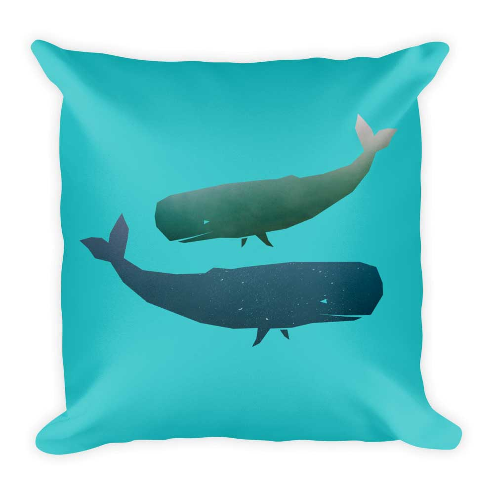 Whale Pillow - Blue