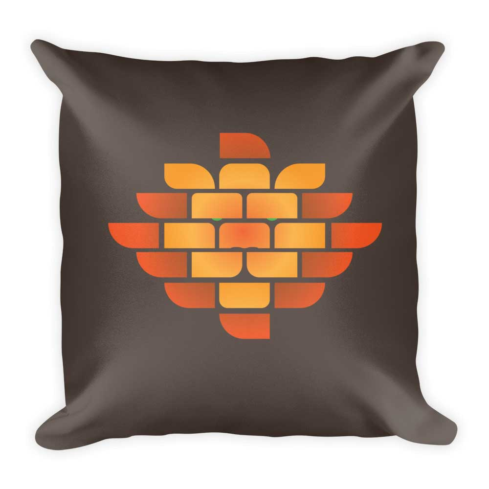 Brick Lion Pillow - Brown