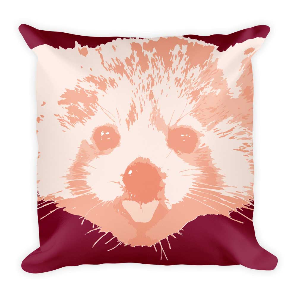 Red Panda Pillow - Crimson