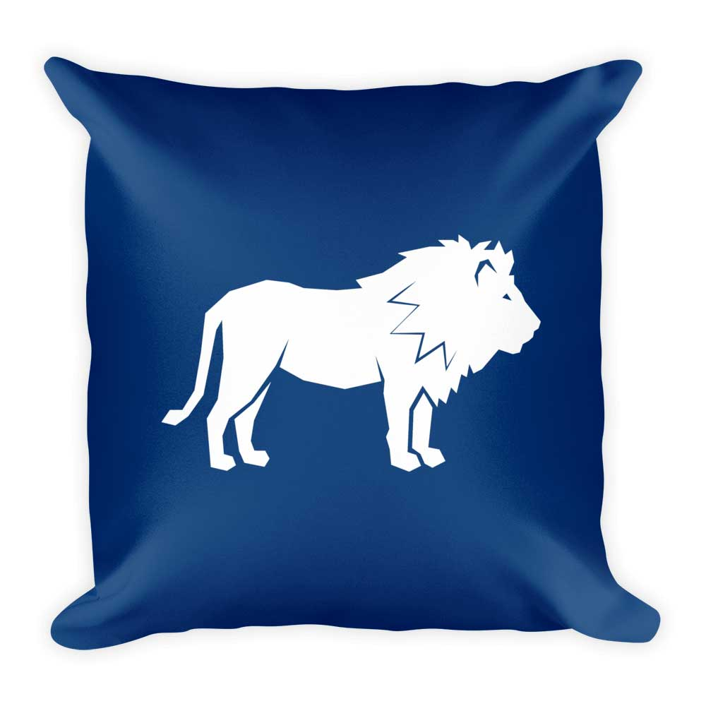 Lion Pillow - Dark Blue