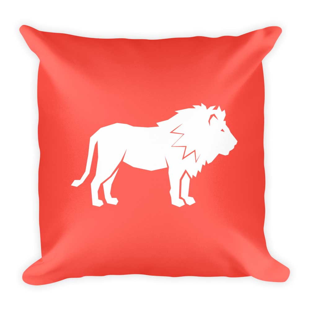 Lion Pillow - Dark Pink