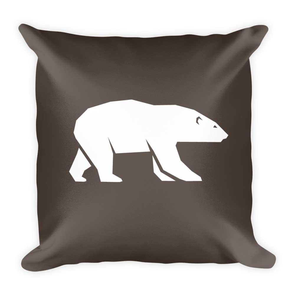 Polar Bear Pillow - Gray