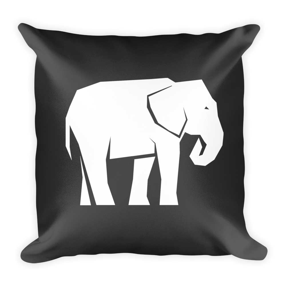 Elephant Pillow - Gray