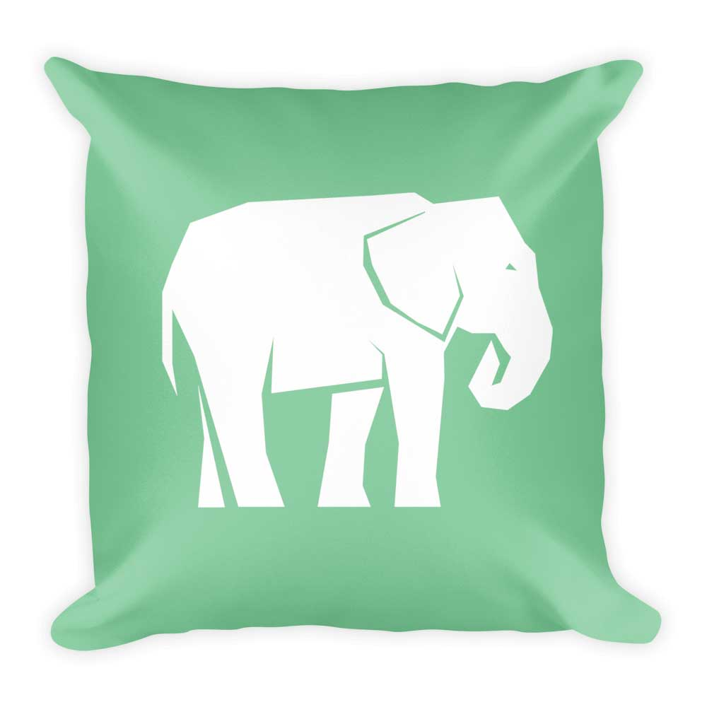 Elephant Pillow - Green