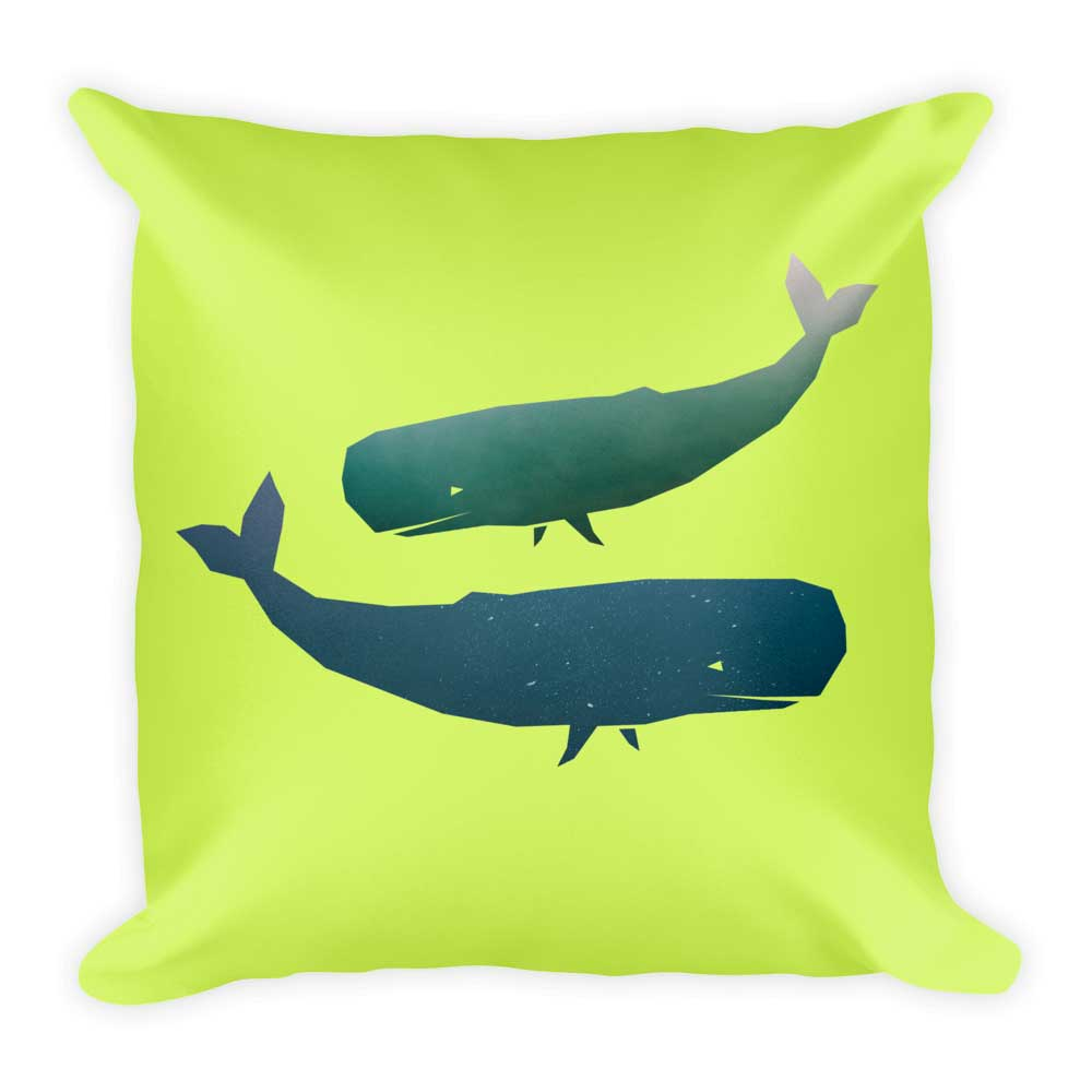 Whale Pillow - Green