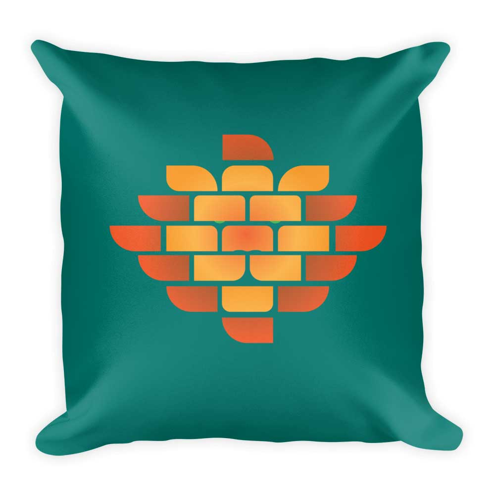 Brick Lion Pillow - Green