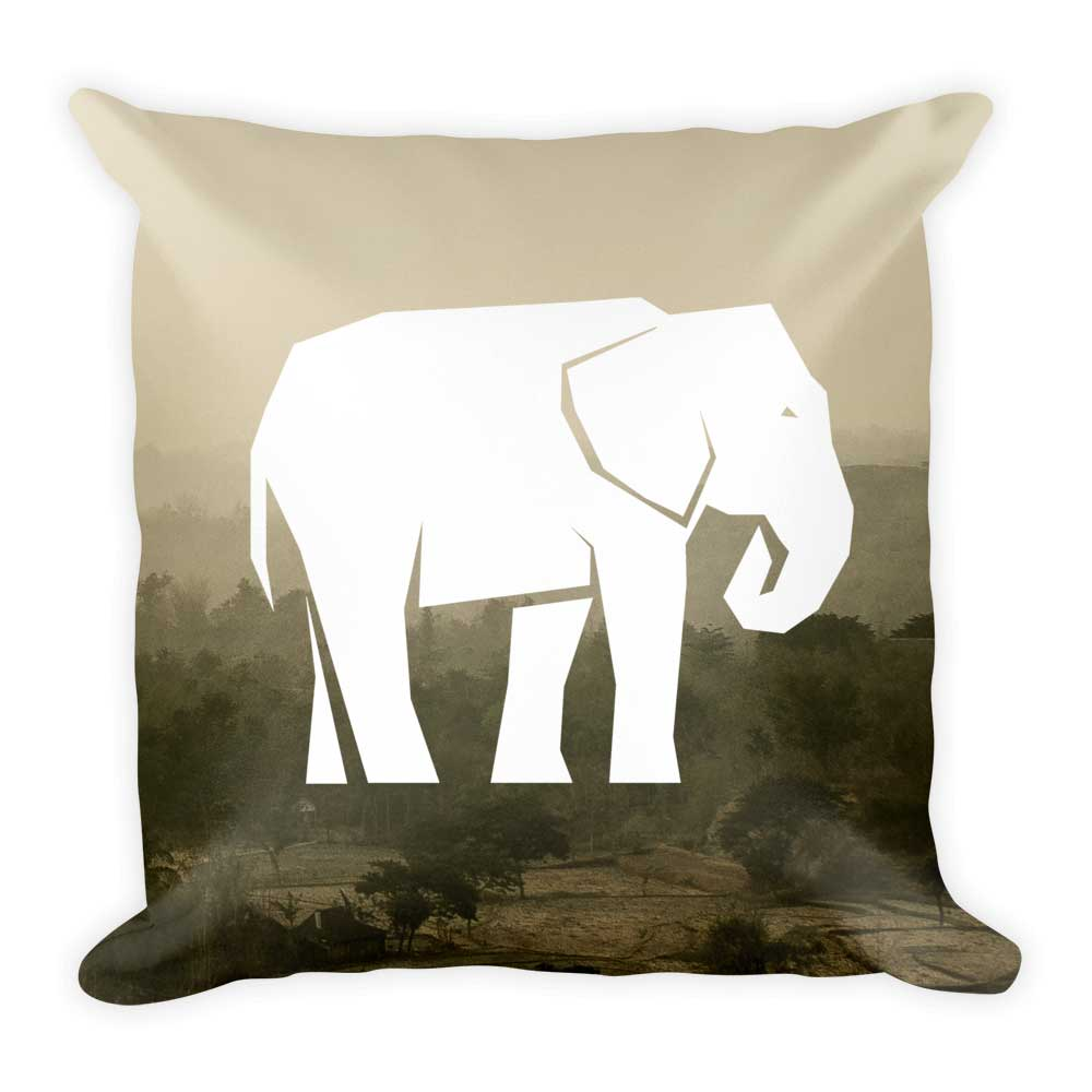 Elephant Pillow - Habitat