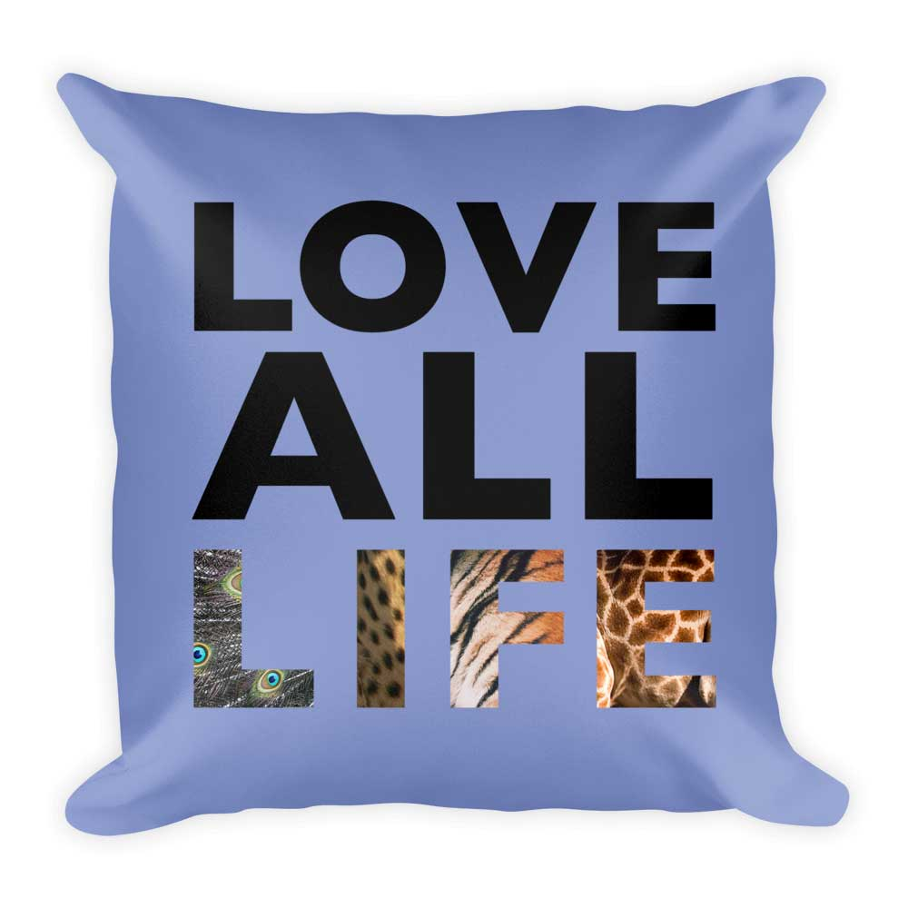 Love All Life Pillow - Lavender