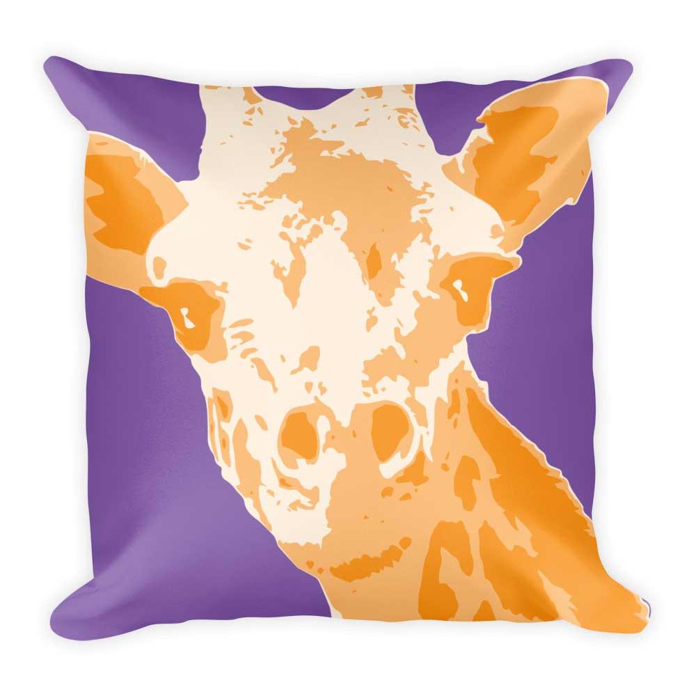 Giraffe Pillow - Lavender