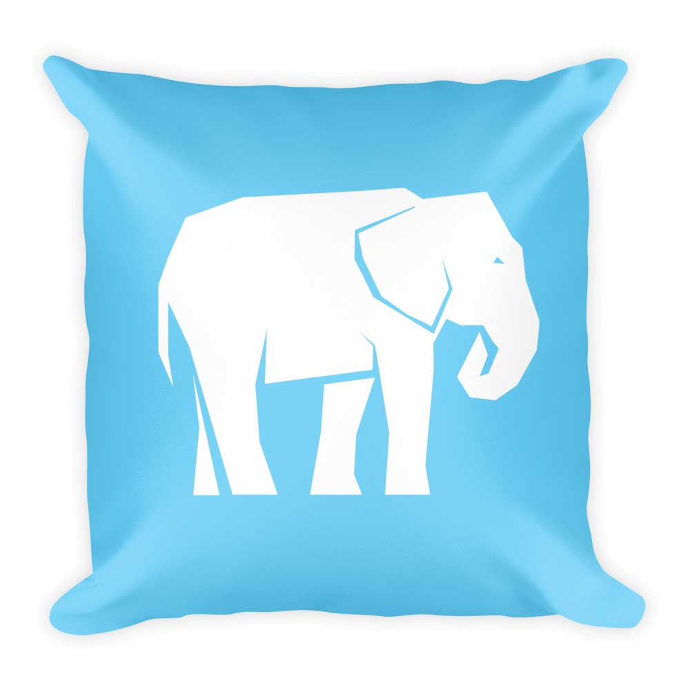 Elephant Pillow - Light Blue