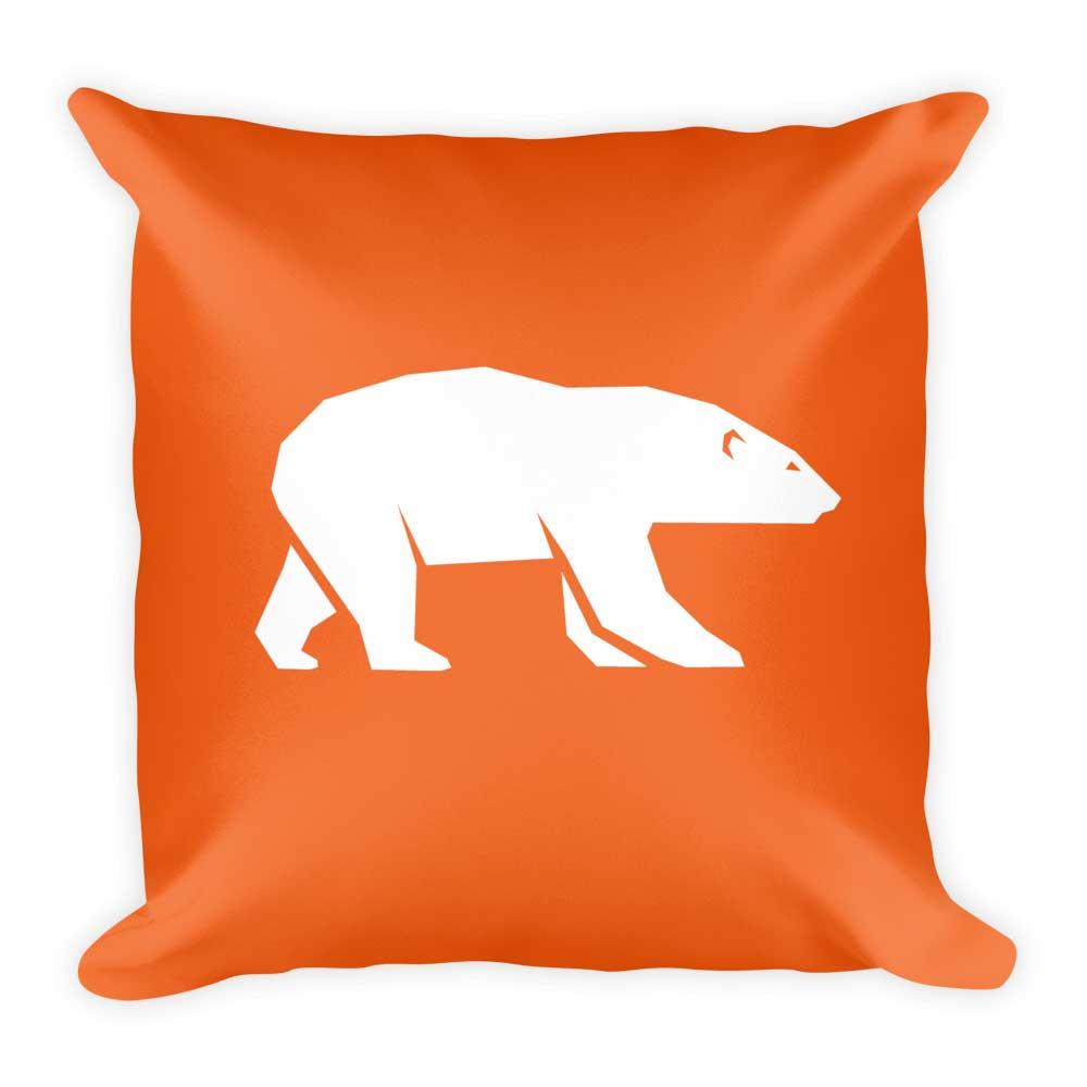Polar Bear Pillow - Orange