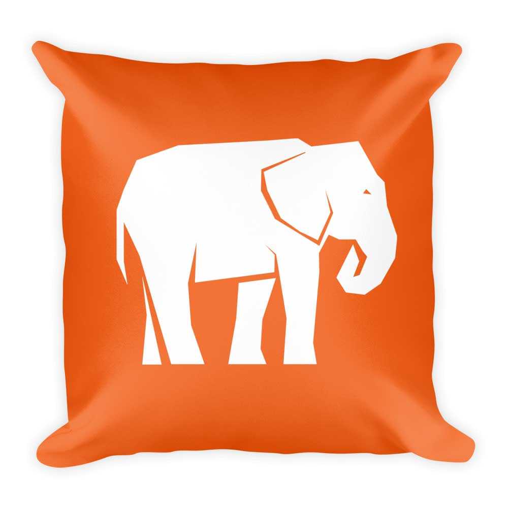 Elephant Pillow - Orange