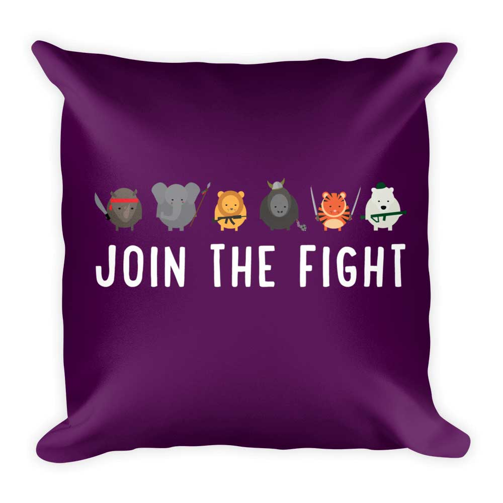Join the Fight Pillow - Purple