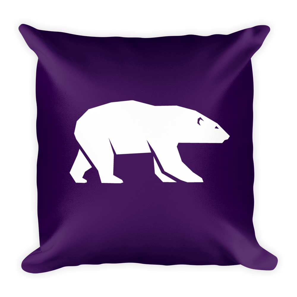 Polar Bear Pillow - Purple