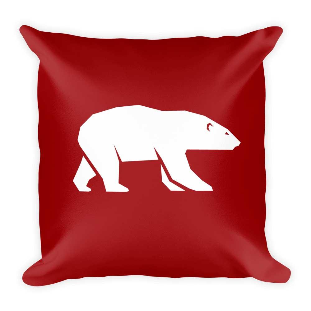 Polar Bear Pillow - Red