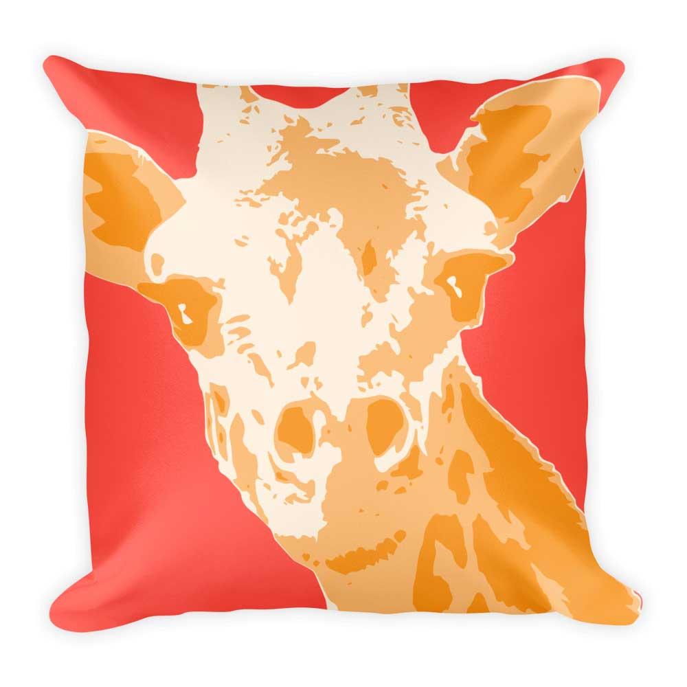 Giraffe Pillow - Red