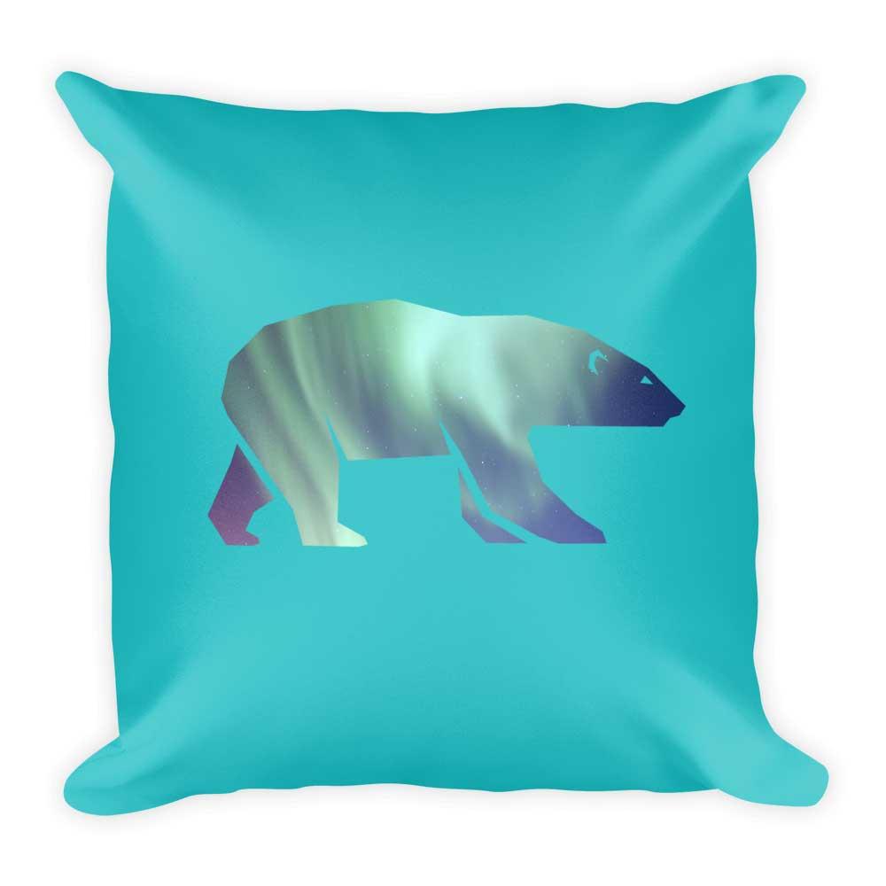 Polar Bear Pillow - Habitat Teal